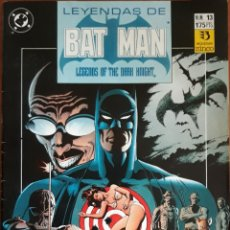 Cómics: COMIC N°13 LEYENDAS DE BATMAN 1990. Lote 160694918