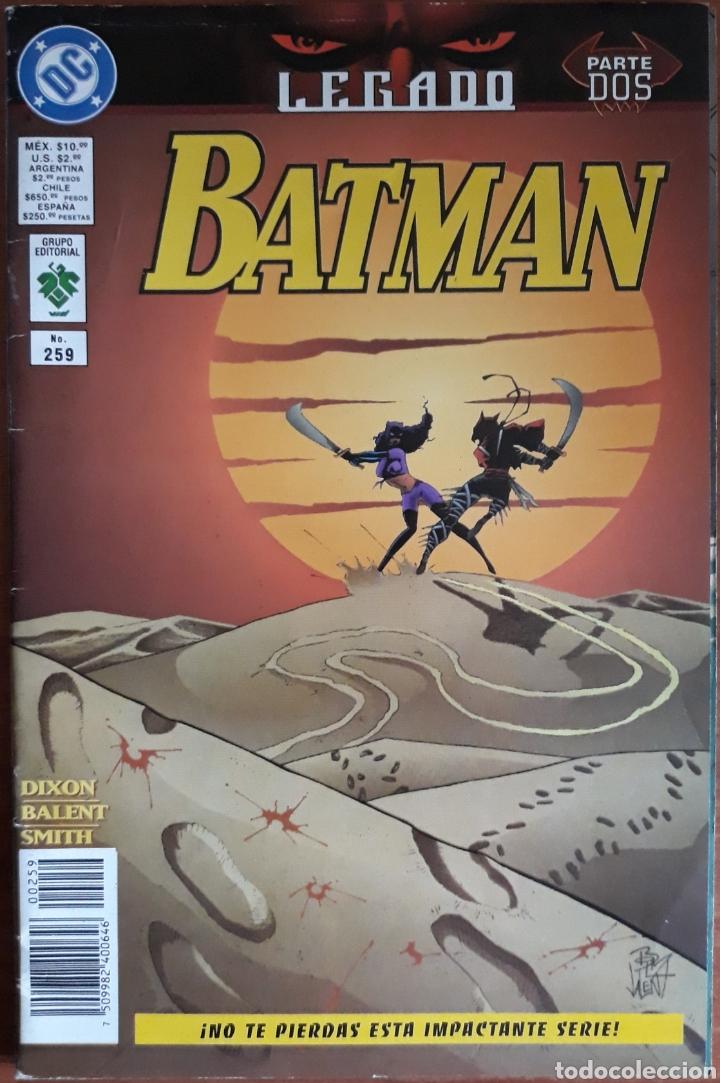 COMIC N°259 BATMAN LEGADO PARTE DOS 1997 (Tebeos y Comics - Zinco - Batman)