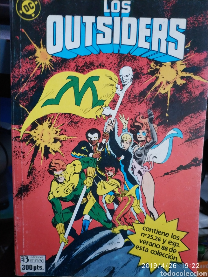 RETAPADO DE LOS OUTSIDERS (3 CÓMICS, Nº 24, 26 Y ESPECIAL VERANO 1988 ) (Tebeos y Comics - Zinco - Outsider)