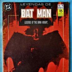 Cómics: LEYENDAS DE BATMAN Nº 11 - ZINCO 1990. Lote 162526218