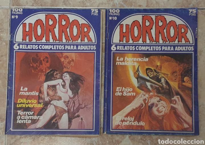 LOTE 2 TEBEOS HORROR NUMEROS 9 Y 10 (Tebeos y Comics - Zinco - Otros)