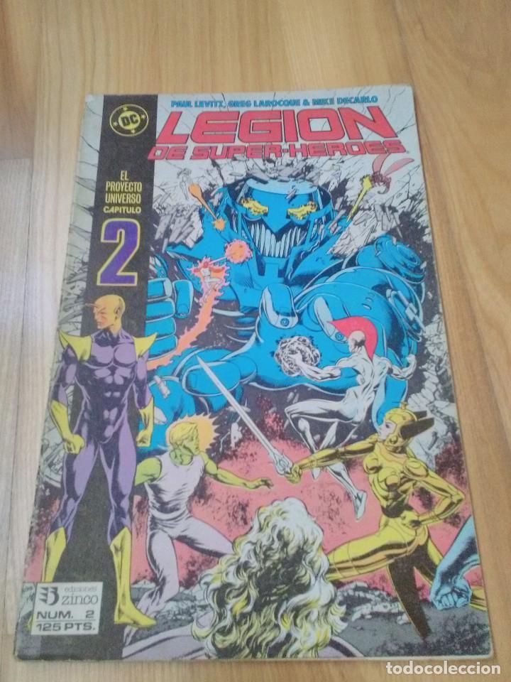 COMIC DC ZINCO LA LEGION DE SUPER HEROES SUPERHEROES Nº 2 (Tebeos y Comics - Zinco - Legión 91)