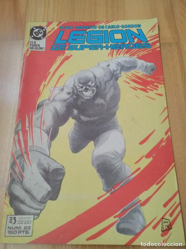 COMIC DC ZINCO LA LEGION DE SUPER HEROES SUPERHEROES Nº 23 (Tebeos y Comics - Zinco - Legión 91)