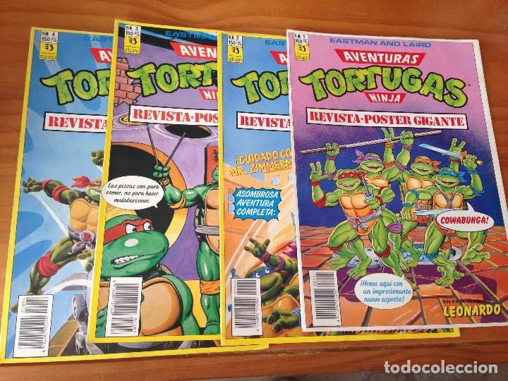 REVISTA PÓSTER TORTUGAS NINJA 1-4 (Tebeos y Comics - Zinco - Otros)