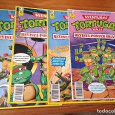 Cómics: REVISTA PÓSTER TORTUGAS NINJA 1-4 . Lote 166600466