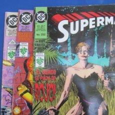 Cómics: SUPERMAN , NUMEROS 249 , 250 , 252 D C , 1996. Lote 166921416