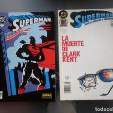 Cómics: LA MUERTE DE CLARK KENT. TOMO 1. VID. SUPERMAN 1 VID-NORMA EDITORIAL. LOTE DE DOS CÓMICS.. Lote 167487056