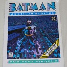 Cómics: BATMAN: JUSTICIA DIGITAL - PEPE MORENO - TAPA DURA Y SOBRECUBIERTA - ZINCO 1990.. Lote 167880780