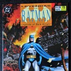 Cómics: LEYENDAS DE BATMAN Nº 39 - ZINCO 1990 ''BUEN ESTADO''. Lote 168866828