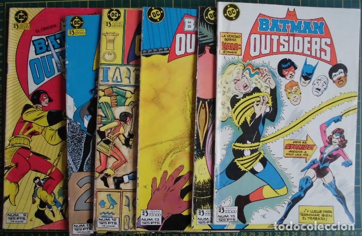 LOTE 6 COMICS BATMAN Y LOS OUTSIDERS Nº 9 11 12 13 14 15 ED. ZINCO (Tebeos y Comics - Zinco - Outsider)