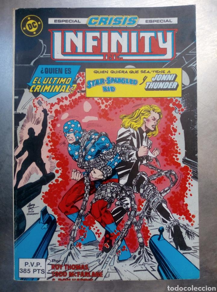 INFINITY INC. : ESPECIAL CRISIS. [RETAPADO. NÚMS. 17-21] COMIC INFINITY INC. : ESPECIAL CRISIS. (Tebeos y Comics - Zinco - Infinity Inc)