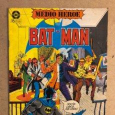 Cómics: BATMAN N° 1 (DC ZINCO 1984). MEDIO HÉROE.. Lote 169837382