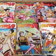 Cómics: RUTA 69 - LOTE DE 19 JEMPLARES - RELATOS GRAFICOS PARA ADULTOS -ED. ZINCO SELLO TIBURON. Lote 170347140