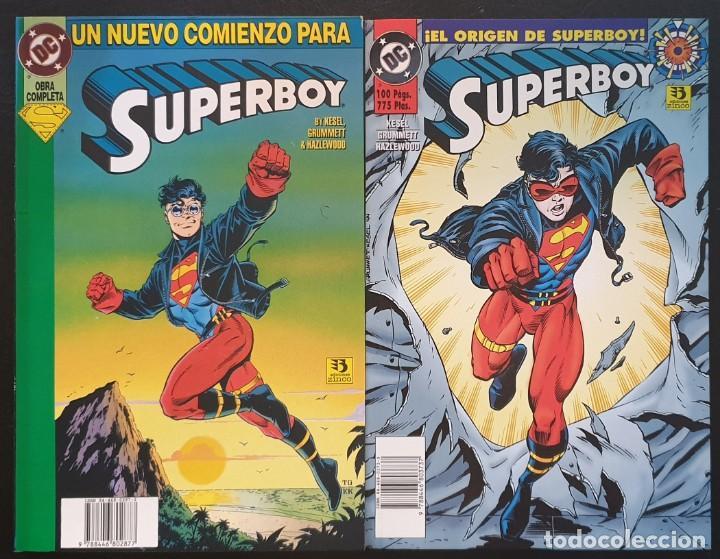 SUPERBOY. COLECCIÓN COMPLETA DE 2 TOMOS. EDICIONES ZINCO 1994 (Tebeos y Comics - Zinco - Superman)