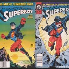 Cómics: SUPERBOY. COLECCIÓN COMPLETA DE 2 TOMOS. EDICIONES ZINCO 1994. Lote 171193015