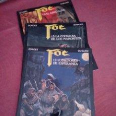 Cómics: FOC, NOVELA GRÁFICA TRILOGÍA MEDIEVAL-FANTÁSTICA. DURAND Y BORDES. 1991. Lote 171805272