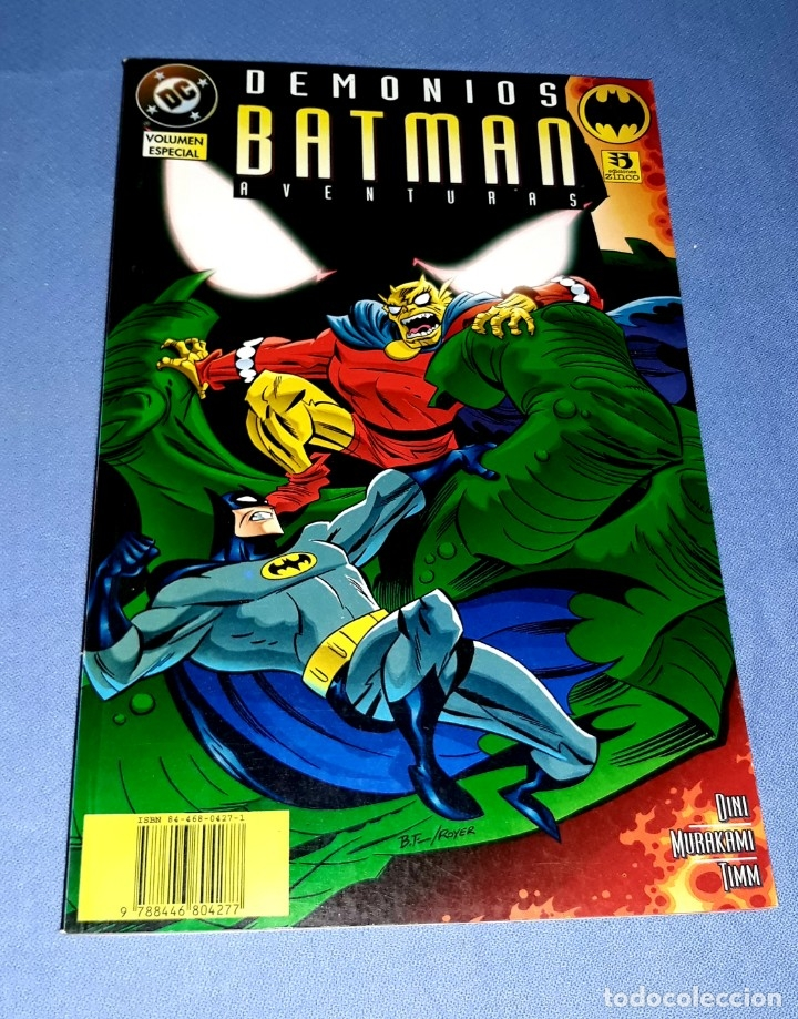 VOLUMEN ESPECIAL DEMONIOS BATMAN EDICIONES ZINCO DC COMICS ORIGINAL VER FOTO Y DESCRIPCION (Tebeos y Comics - Zinco - Batman)