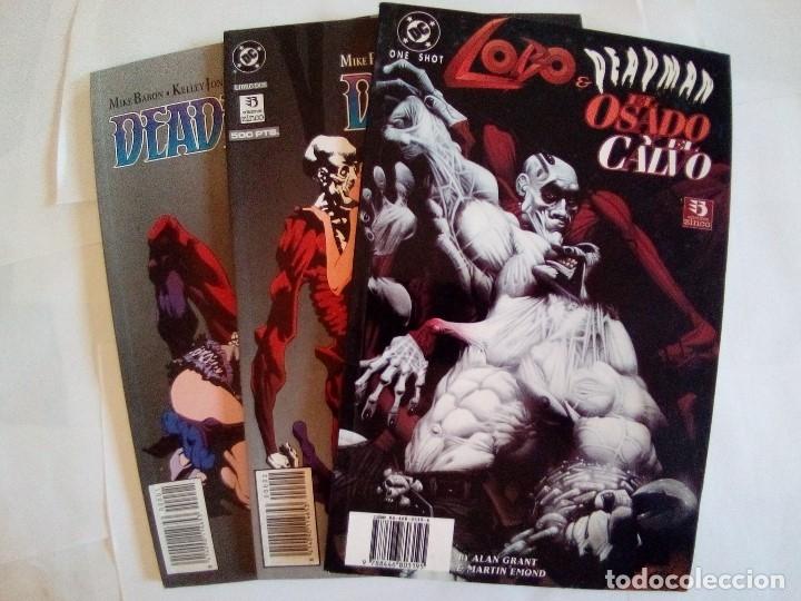 LOTE DE 3 COMICS LOBO Y DEADMAN VER FOTOS (Tebeos y Comics - Zinco - Lobo)