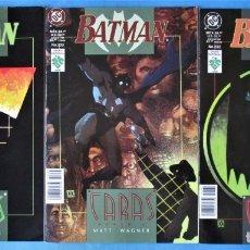 Comics: BATMAN, CARAS (COMPLETA 3 EJEMPLARES) MATT WAGNER DC - VID (VER 6 FOTOS). Lote 218216772