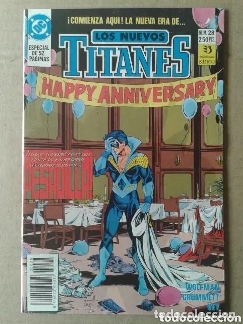 Cómics: Lote Los Nuevos Titanes, números 3-13-21-22-28-29-37-38-39-41. Ediciones Zinco - Foto 7 - 90960530