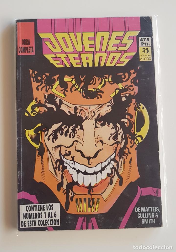 DC COMICS -JÓVENES ETERNOS RETAPADO OBRA COMPLETA 6 NÚMEROS EDICIONES ZINCO 1990 (Tebeos y Comics - Zinco - Prestiges y Tomos)