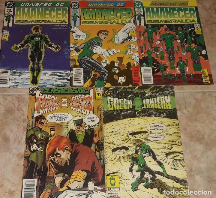 GREEN LANTERN AMANECER ESMERALDA Nº 29 30 Y 31 + Nº 23 + CLASICOS DC N 8 GREEN LANTERN Y GREEN ARROW (Tebeos y Comics - Zinco - Otros)