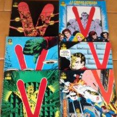 Cómics: V - COMICS SERIE DE TELEVISION - LOTE DE 12 EJEMPLARES EDITA : ZINCO DC. Lote 172669270