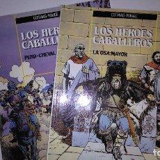 Cómics: * LOS HEROES CABALLEROS * ED. ZINCO 1990 * LOTE 2 TOMOS IMPECABLES *. Lote 172764789