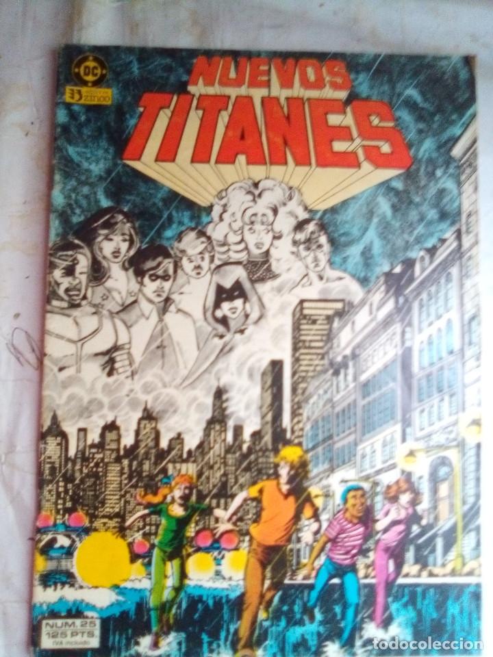 NUEVOS TITANES - Nº 25 -¡LLAMADLES FUGITIVOS!-1986-GRAN GEORGE PEREZ-BUENO-DIFÍCIL-LEAN-5540 (Tebeos y Comics - Zinco - Nuevos Titanes)