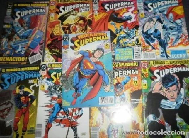 SUPERMAN EL HOMBRE DE ACERO (1 2 3 Y 5 ) EL REGRESO DE SUPERMAN 1 AL 5. D.DE LA MUERTE DE SUPERMAN (Tebeos y Comics - Zinco - Superman)