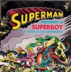 Cómics: SUPERMAN PRESENTA A SUPERBOY Y LA LEGION DE SUPERHEROES - BRUGUERA - ALBUM GIGANTE 5. Lote 176312247