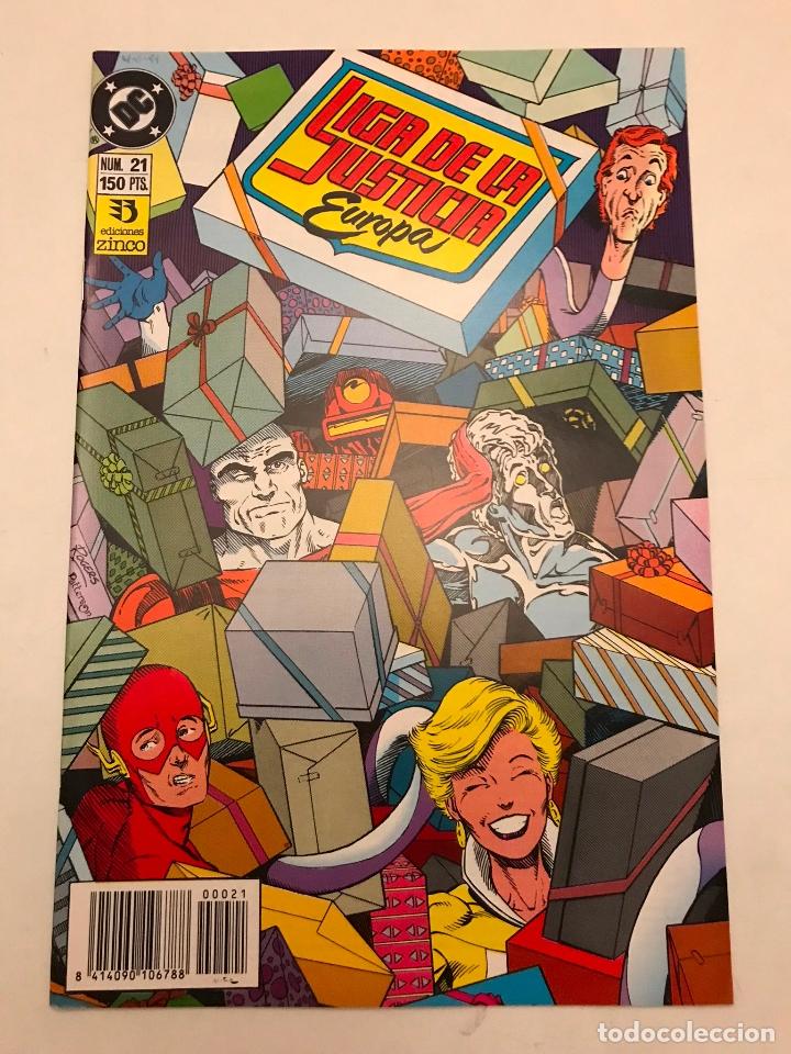 LIGA DE LA JUSTICIA EUROPA Nº 21. ZINCO 1989 (Tebeos y Comics - Zinco - Liga de la Justicia)