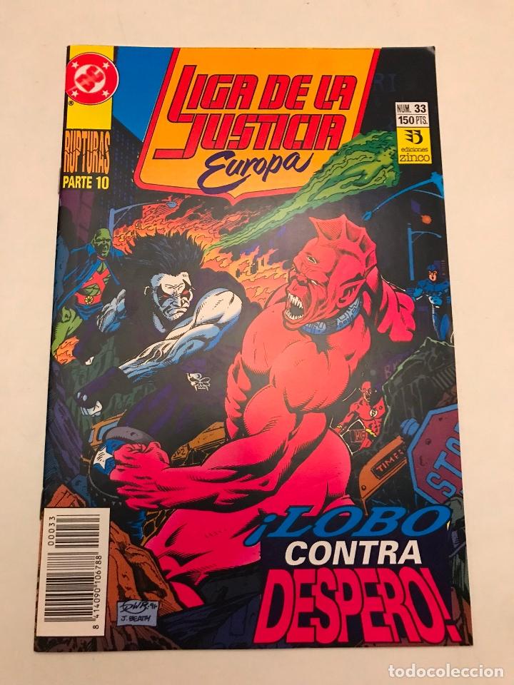 LIGA DE LA JUSTICIA EUROPA Nº 33. ZINCO 1989 (Tebeos y Comics - Zinco - Liga de la Justicia)