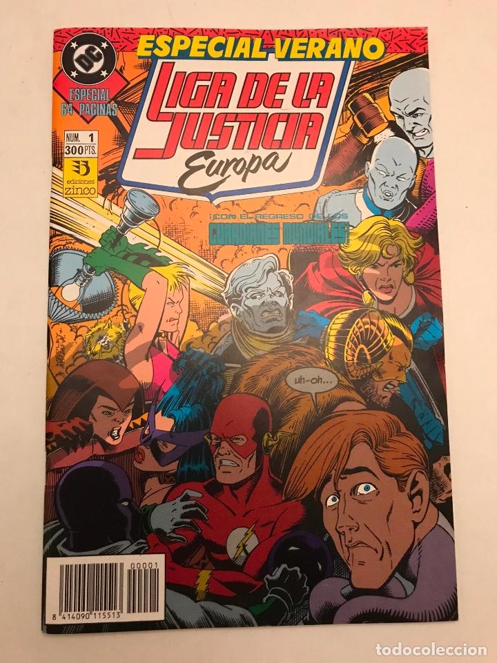 LIGA DE LA JUSTICIA EUROPA EXTRA ESPECIAL VERANO. ZINCO 1990 (Tebeos y Comics - Zinco - Liga de la Justicia)