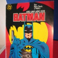 Cómics: BATMAN AÑO UNO/AÑO DOS /OBRA COMPLETA EN RETAPADO/DC ZINCO, 1987. Lote 178119139