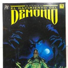 Cómics: BATMAN ---- EL NACIMIENTO DEL DEMONIO, EDICIONES ZINCO, 1993. Lote 178236843