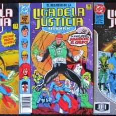 Cómics: EL REGRESO DE LA LIGA DE LA JUSTICIA AMÉRICA LIBROS 1 Y 2 + VOLUMEN ESPECIAL (MUY BUEN ESTADO). Lote 178132645