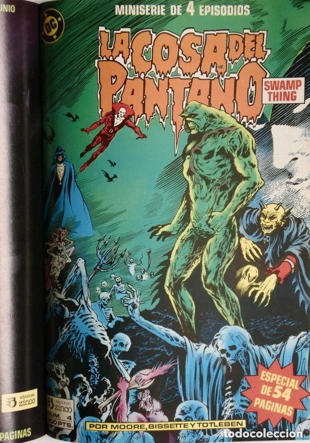 Cómics: LA COSA DEL PANTANO miniserie 4 números completa (SWAMP THING)Allan Moore, Stephen Bissette,Totleben - Foto 5 - 178291060