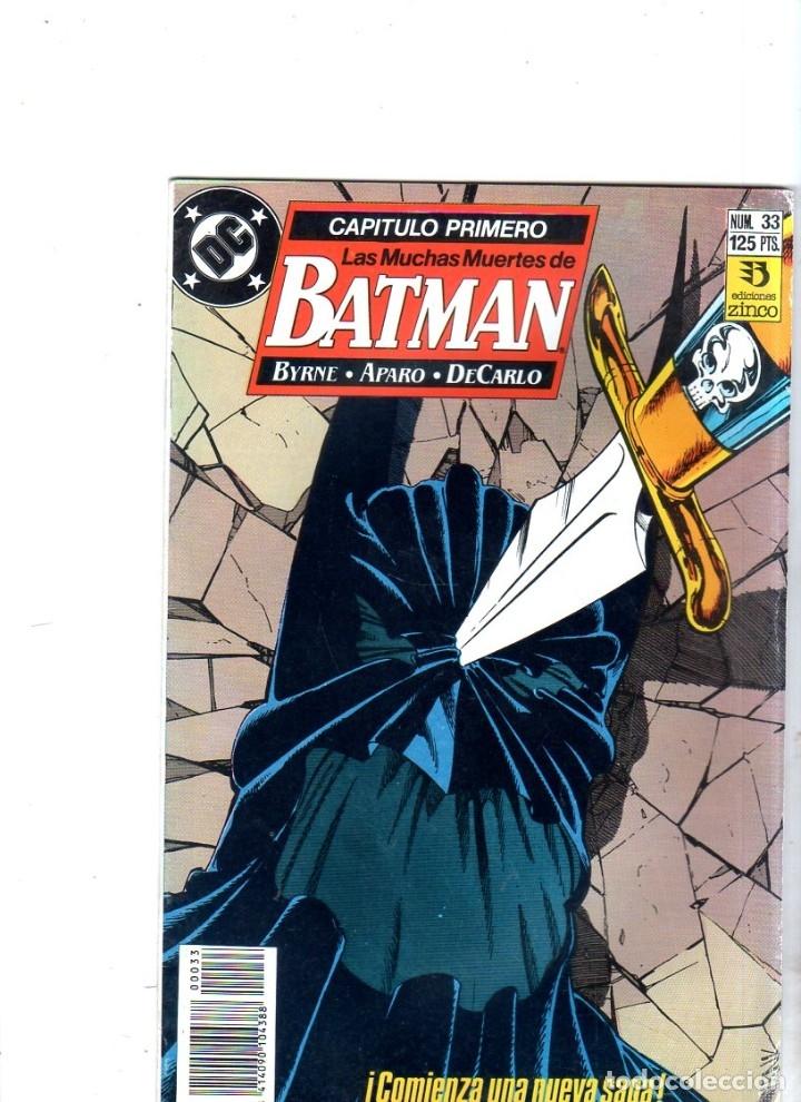 BATMAN. EDICONES ZINCO. DC. Nº 33. (Tebeos y Comics - Zinco - Batman)
