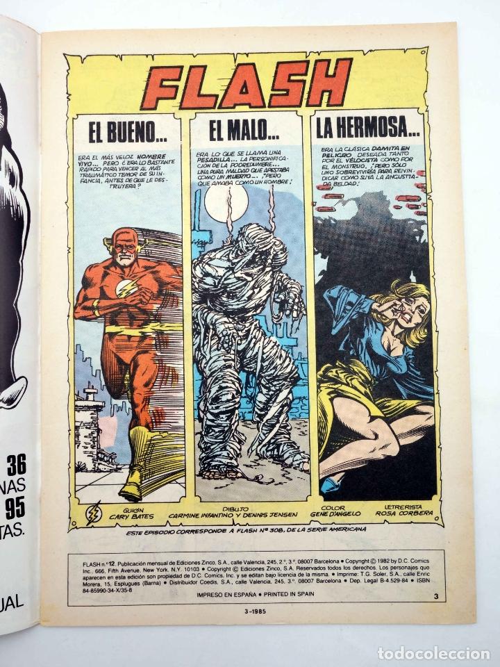 Cómics: FLASH VOL 1. 12. EL BUENO,EL MALO, LA HERMOSA (Bates / Infantino) Zinco, 1984. OFRT - Foto 3 - 222363957