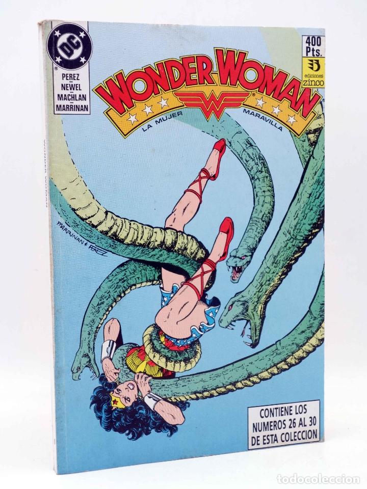 WONDER WOMAN. LA MUJER MARAVILLA. RETAPADO 6, NÚMEROS 26 A 30 (GEORGE PÉREZ) ZINCO, 1988. OFRT (Tebeos y Comics - Zinco - Retapados)