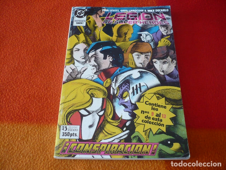 LEGION DE SUPERHEROES NºS 9 AL 13 RETAPADO 2 ( LEVITZ ) ¡BUEN ESTADO! DC ZINCO (Tebeos y Comics - Zinco - Retapados)