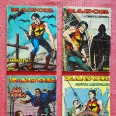 Cómics: LOTE 4 COMICS ZAGOR N° 1,2,3 Y 4. EDITORIAL ZINCO AÑO 1982,. Lote 180162663