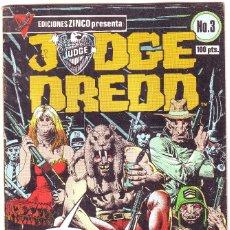 Cómics: JUDGE DREDD Nº 3 DE EDICIONES ZINCO. Lote 180169035