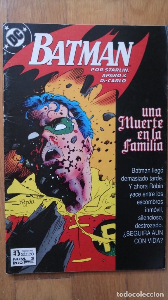 BATMAN: UNA MUERTE EN LA FAMILIA 3 (Tebeos y Comics - Zinco - Batman)