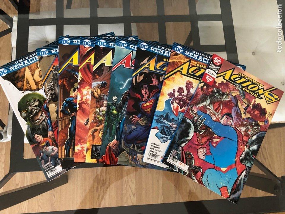 LOTE 9 CÓMICS SUPERMAN ACTION COMICS ECC (Tebeos y Comics - Zinco - Superman)