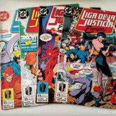 Cómics: LIGA DE LA JUSTICIA EUROPEA 1 2 3 4. Lote 180456845