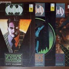 Cómics: LEYENDAS DE BATMAN. ROSTROS. MATT WAGNER. OBRA COMPLETA 3 NÚMEROS. Lote 138907938