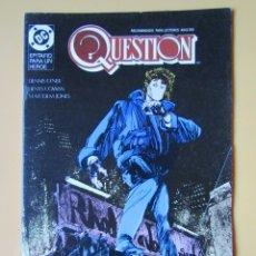 Cómics: QUESTION. NÚM. 15. EPITAFIO PARA UN HÉROE - DENNIS O'NEIL. DENYS COWAN. MALCOM JONES. Lote 181329900