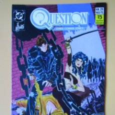 Comics: QUESTION. NÚM. 29. EL ASESINATO - DENNIS O'NEIL. DENYS COWAN. MALCOM JONES III. Lote 181329905